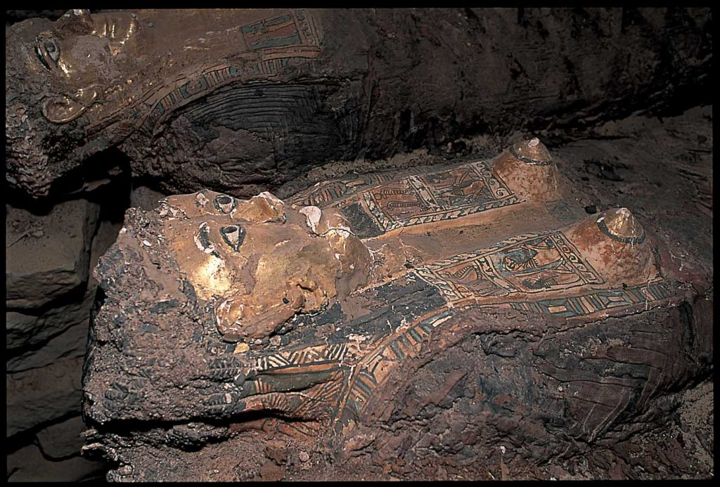 """The Valley of the Mummies, Bahariya Oasis. One of Egypt's most important discoveries a cache of the most realistic mummies ever found, dating back to the 26th dynasty (672-525 B.C.)."" Copy Right/ Mohamed El-Dakhakhny"