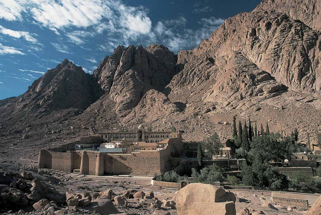 """The Greek Orthodox Monastery of St. Catherine (AD 527) in Sinai desert. One of its high mountains is 'Mount of Moses'. One of the ways to the top is believed to be the ' Path of our Lord Moses' that he took to receive the Ten Commandments"" Photo by: Mohamed El-Dakhakhni."